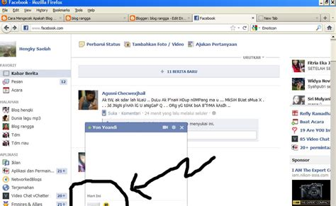 cara membuat blog fb cara membuat emoticon chat fb facebook blog rangga