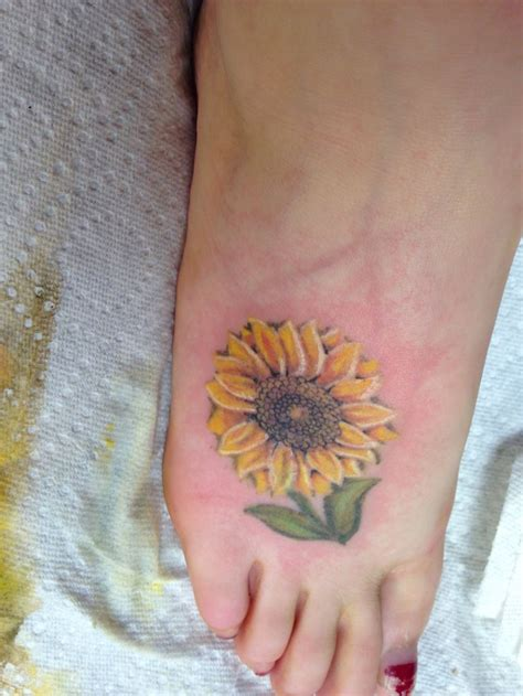 sunflower tattoo designs on foot my sunflower sunflower foottattoo foot
