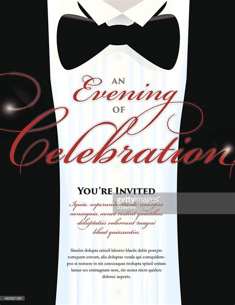 black tie event invitation template templates resume
