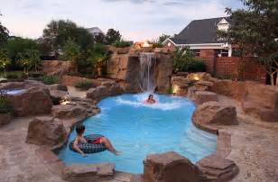 How To Build A Water Slide In Your Backyard Charming Amp Spectacular Pool Waterfalls To Fashion Every