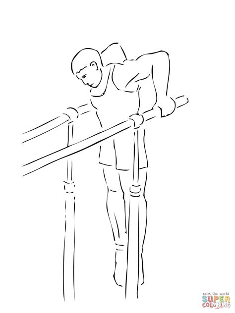 gymnastics bars coloring pages parallel bars gymnastics coloring page free printable