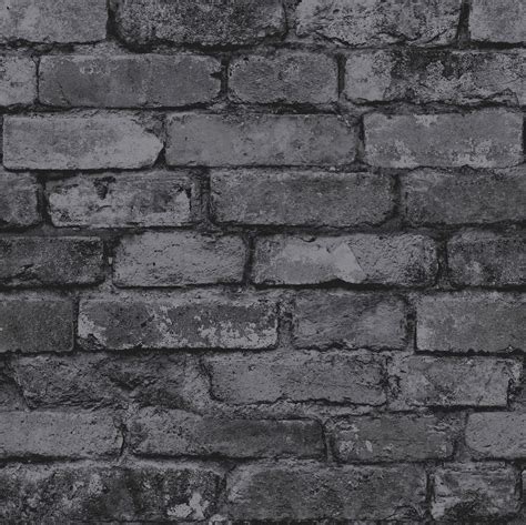 wallpaper grey brick rasch fine decor 10m luxury brick effect wallpaper stone