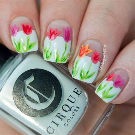 tulip flower nail art youtube 80 trendy spring nail art ideas to flaunt spring time beauty