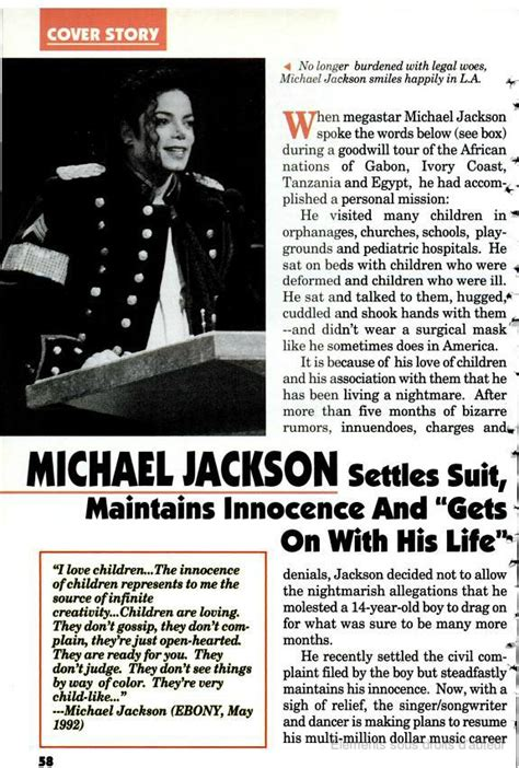 Michael Jacksons Pharmacy Suit Settled by Michael Jackson Settles Suit Maintains Innocence And