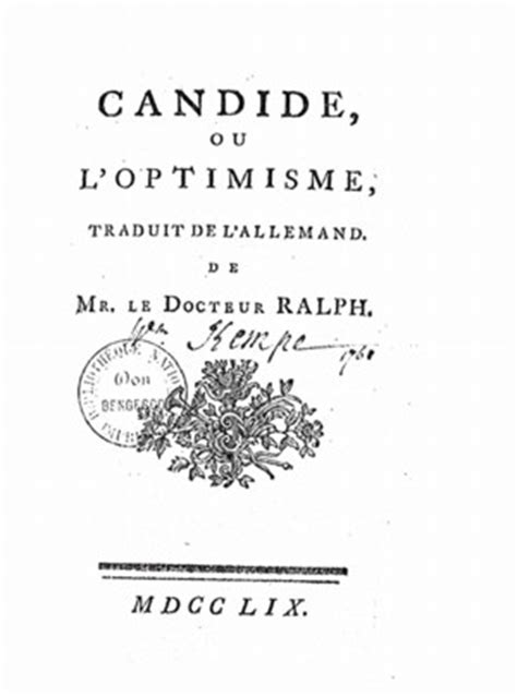 candide ou l optimisme edition books candide ou l optimisme library of liberty