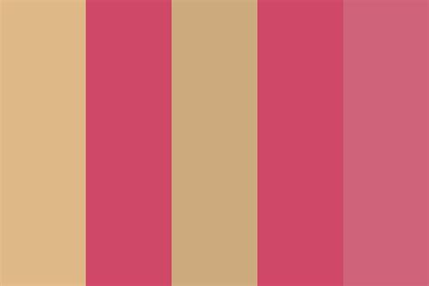 pink beige bedroom 2 color palette