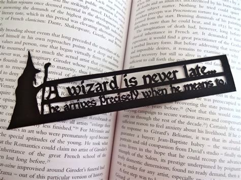 printable bookmarks lord of the rings a wizard is never late lord of the rings bookmark original