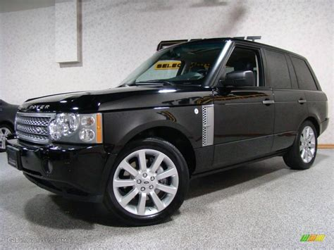 land rover 2007 black 2007 java black pearl land rover range rover supercharged