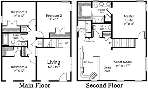 floor plan for 2 story house 4 bedroom 2 story modular home floor plans ranch designs