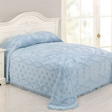 blue coverlet king new full queen king bedspread coverlet blue chenille