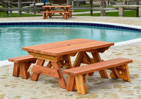 build a picnic table with detached benches kid size wood picnic table with detached benches forever