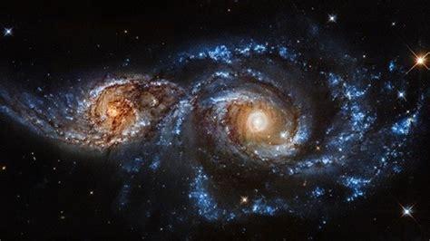 imagenes del universo nasa fotos video impresionante choque de dos galaxias captado