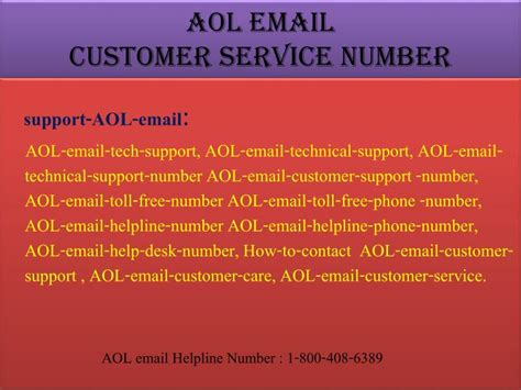 contact aol help desk ppt aol email support powerpoint presentation id 7397106
