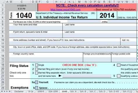 supplemental w2 form use excel to file your 2014 form 1040 and related