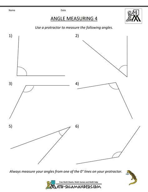 measuring angles with a protractor worksheet pdf measuring angles worksheets for 4th grade