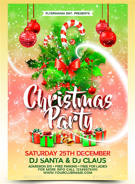 20 christmas party templates psd eps vector format