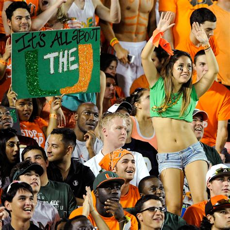 best college student sections miami student sections in college football espn