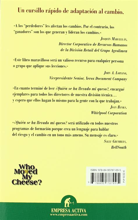 libro por quien doblan las libro 191 qui 233 n se ha llevado mi queso de spencer johnson pdf bs 5 000 00 en mercado libre