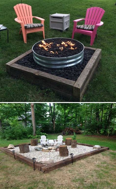 22 Backyard Fire Pit Ideas With Cozy Seating Area Backyards With Pits