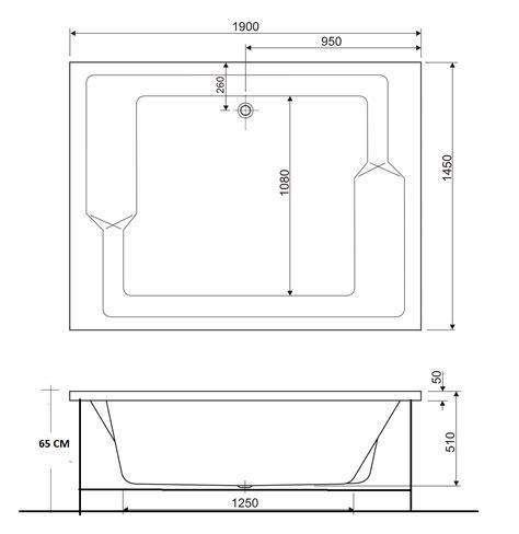 vasche idromassaggio rettangolari bahama pluriposto 190x145 vasca idromassaggio rettangolare