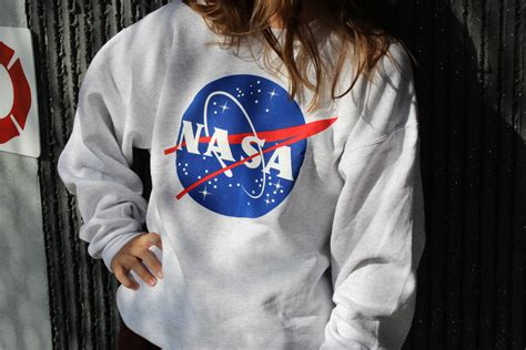Hoodie Nasa Roffico Cloth 1 nasa meatball gray sweatshirt by space shirts