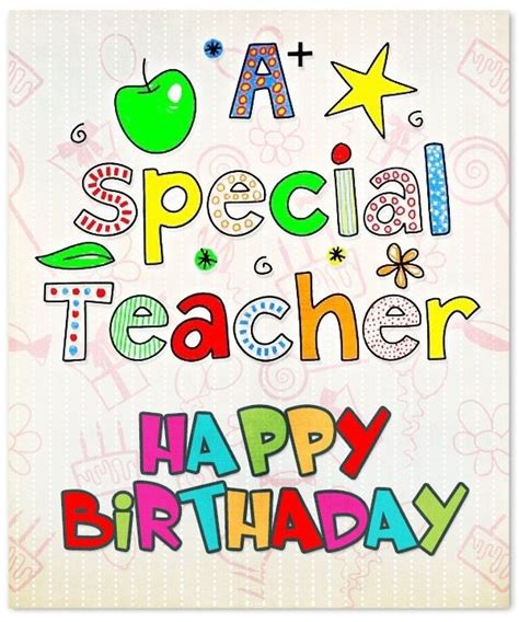 Quotes For Teachers Birthday Card happy birthday birthday cards images wishes
