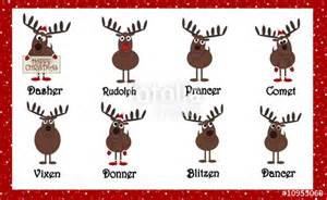 quot santas cartoon reindeers with names quot stock photo and