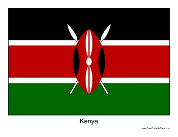 template of kenya flag free printable home design templates popular house plans