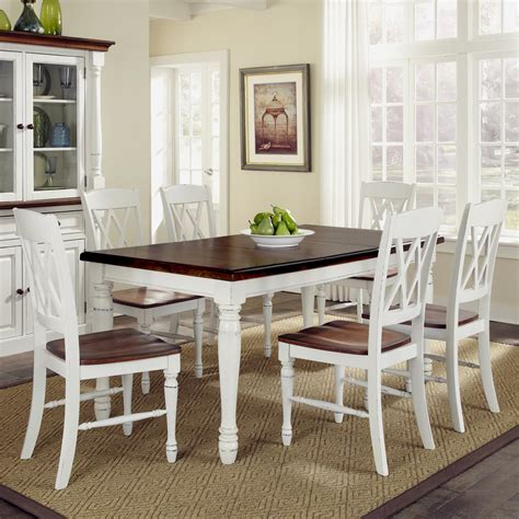 home styles monarch  piece dining table set   double
