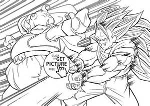 dragon ball anime attack coloring pages kids printable free