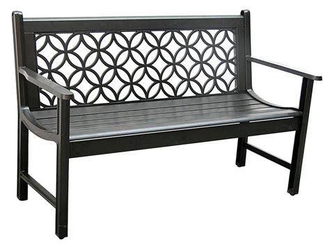 aluminum benches black metro garden bench outdoor park bench