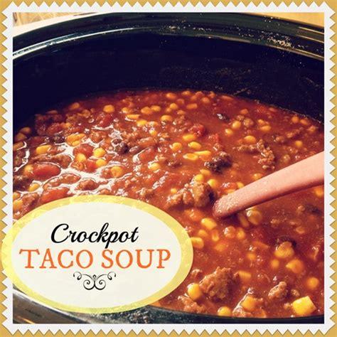 easy taco soup crockpot