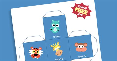 printable animal dice masketeers printable masks free animal dice