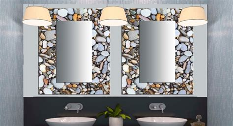 decorative mirrors for bathrooms glass decorative mirrors contemporary bathroom miami