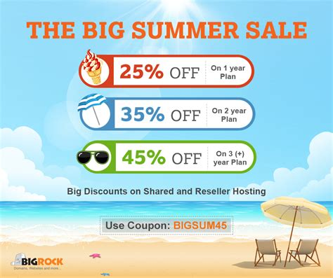 Godaddy Plans by Big Summer Sale Save Up To 45 Off On Bigrock Hosting