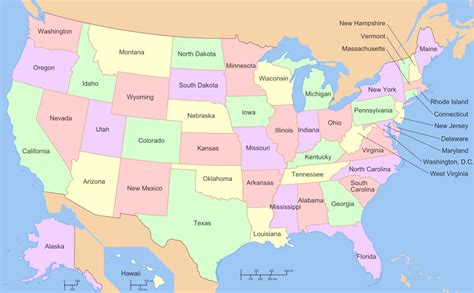 map of usa with states named file map of usa with state names 2 svg