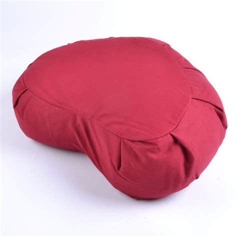 Meditation Pillow Buckwheat by Studio Organic Buckwheat Crescent Zafu Plain