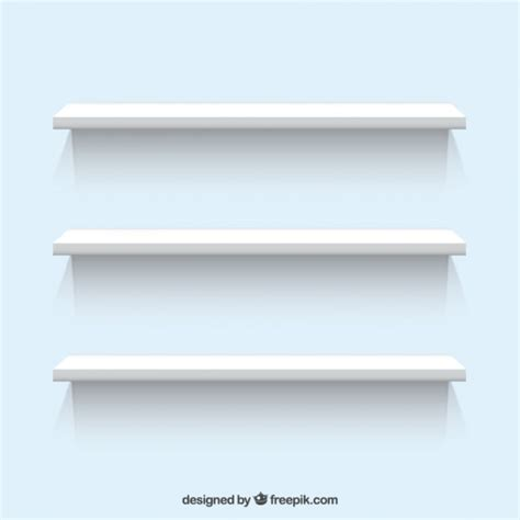 white shelves vector free