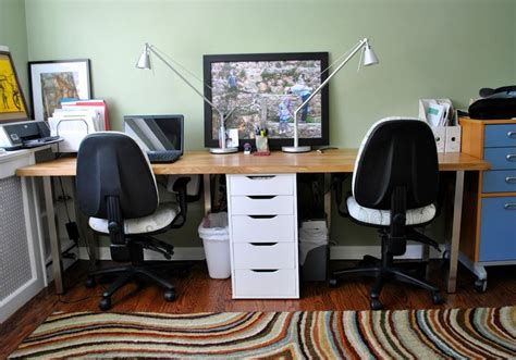 ikea hack office ikea numerar 96 quot countertop turned into a large desk with