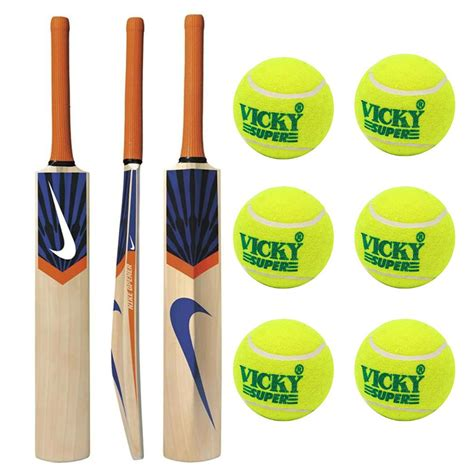 buy tennis bat nike tennis cricket bat and 6 cricket tennis ball buy