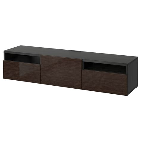 best tv bench best 197 tv bench black brown selsviken high gloss brown