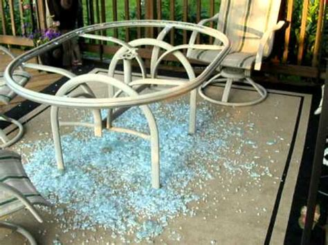 glass top table shattered without warning dangerous