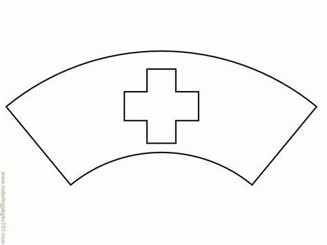 printable paper nurse hat nurse coloring pages getcoloringpages com