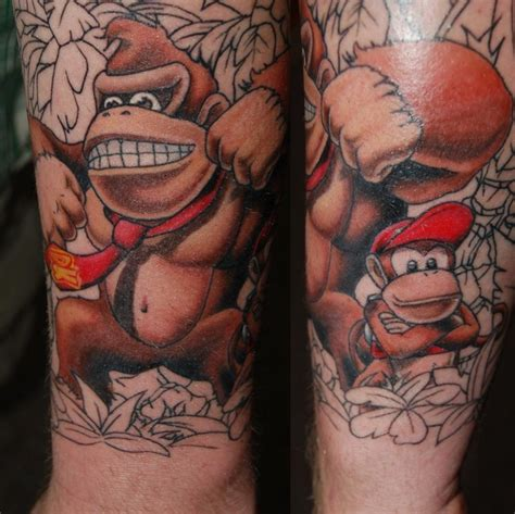 donkey kong tattoo 7 best tech n9ne tattoos images on strange