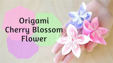 Cherry Blossom Origami Paper - how to make origami cherry blossom flower doovi