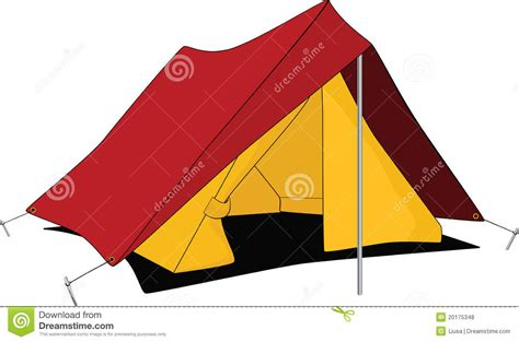 Awning Tents Red Tent Cartoon Stock Vector Illustration Of Textile