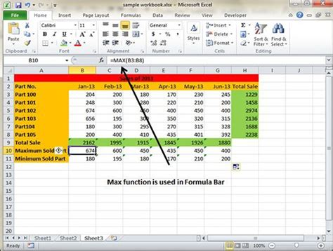 tutorialspoint excel using functions in excel 2010