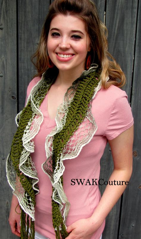 Shabby Pashmina swakcouture shabby chic lace cotton scarf summer