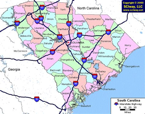 south carolina highway map location and maps city of sumter sc