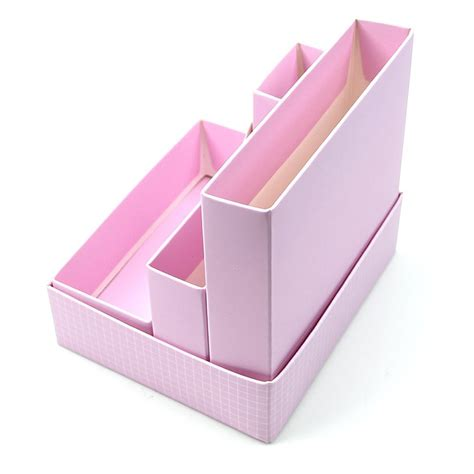 Paper Board Storage Box Desk Decor Stationery Makeup Paper Desk Organizer